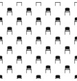 black office chair pattern vector image