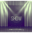 stage with curtains in vintage colors vector image