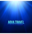 Underwater sunrays for aqua travel design vector image