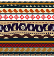 Seamless pattern with elements of embroidery vector image vector image