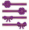 Purple ribbons vector image vector image