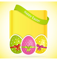 Easter egg background with banner vector image