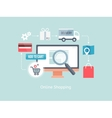 buying online and e-commerce vector image