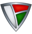 steel shield with flag madagascar vector image vector image