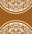 beautiful floral ornament vector image vector image