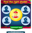 Find the right shade apple 3 vector image