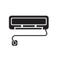 black Air conditioner icon vector image