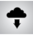 Cloud download vector image