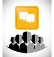 Communication design vector image