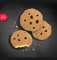 cookies on chalkboard background vector image