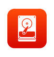 hdd icon digital red vector image
