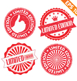 Stamp sticker Limited Edition collection - vector image