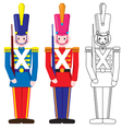 Vintage Happy Toy Soldier vector image