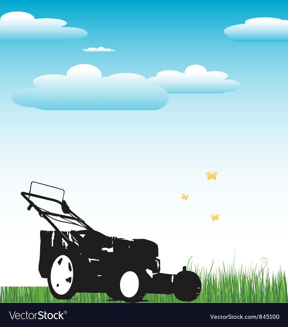 Lawn mower background vector