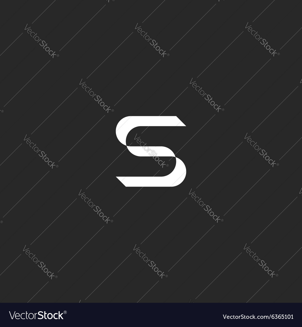 Letter s logo mockup graphic design element icon vector