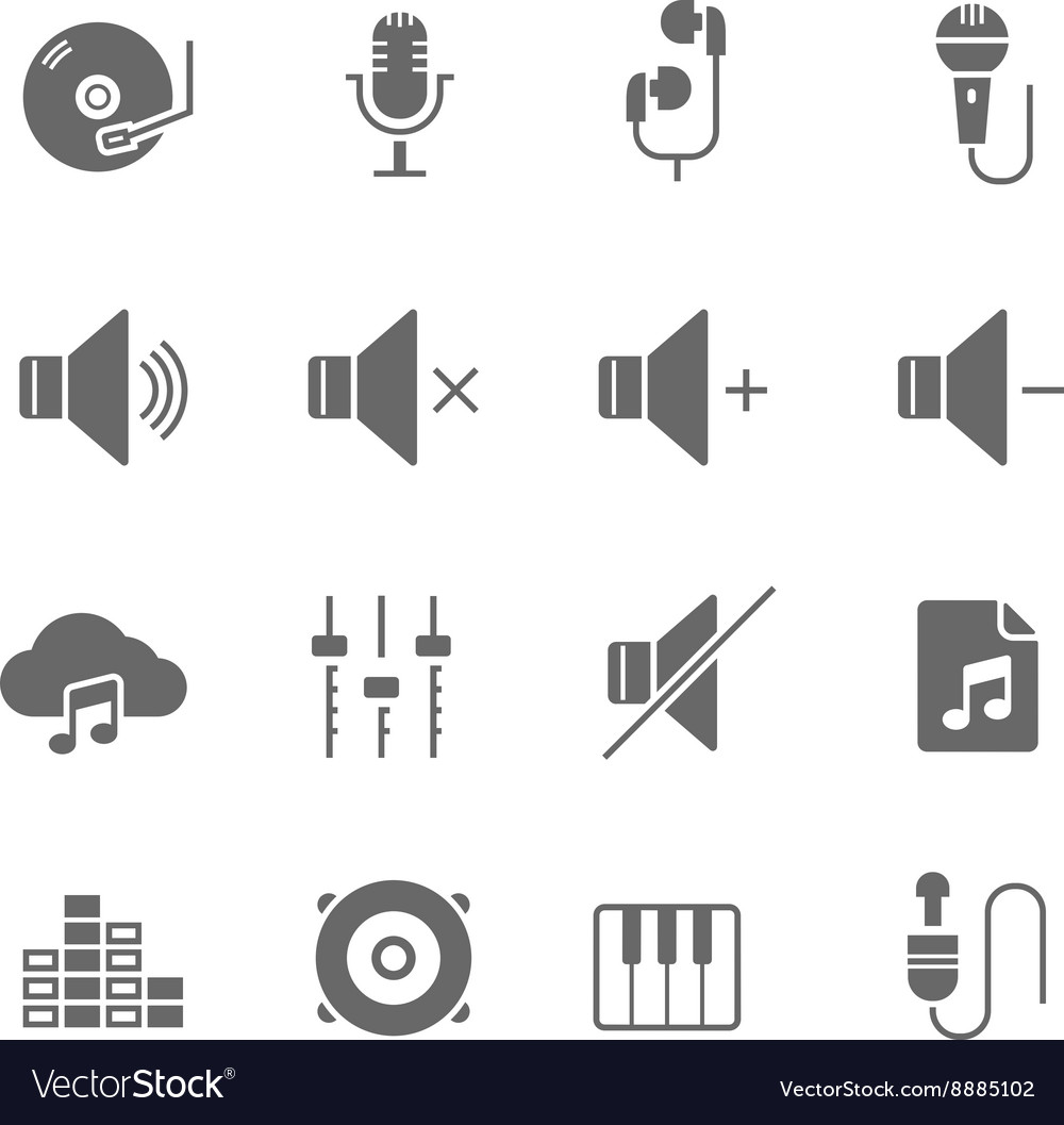 Icon set  audio vector