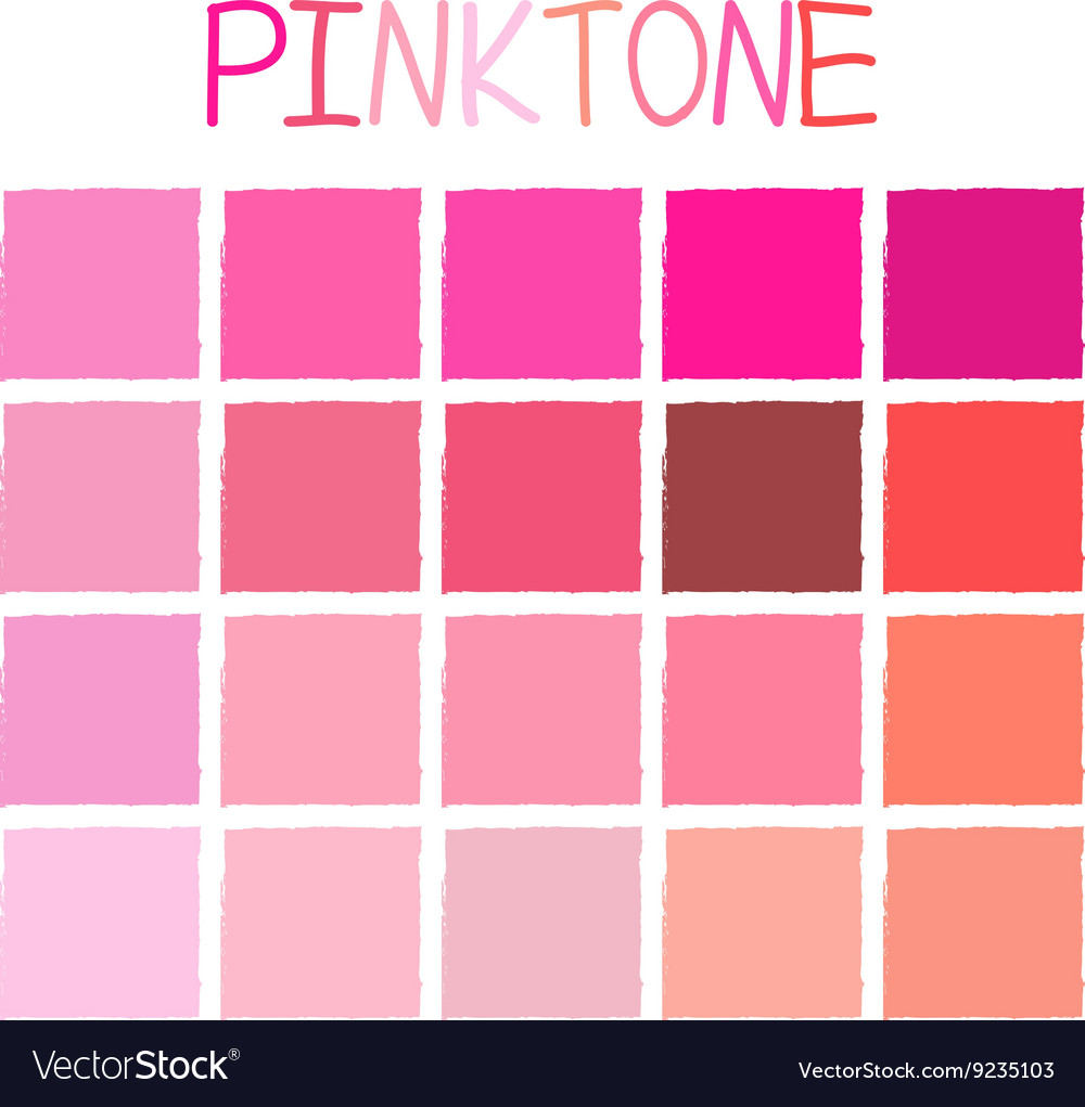 Pinktone color tone without name vector
