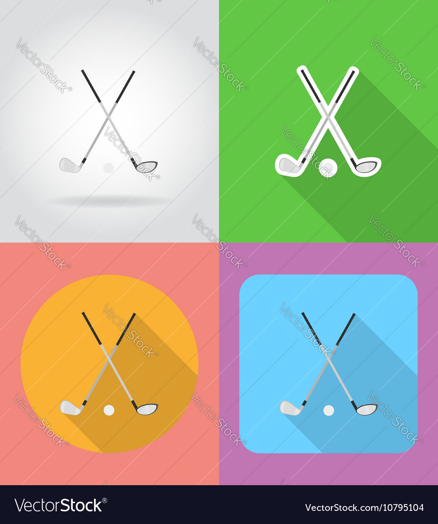 Sport flat icons 02 vector