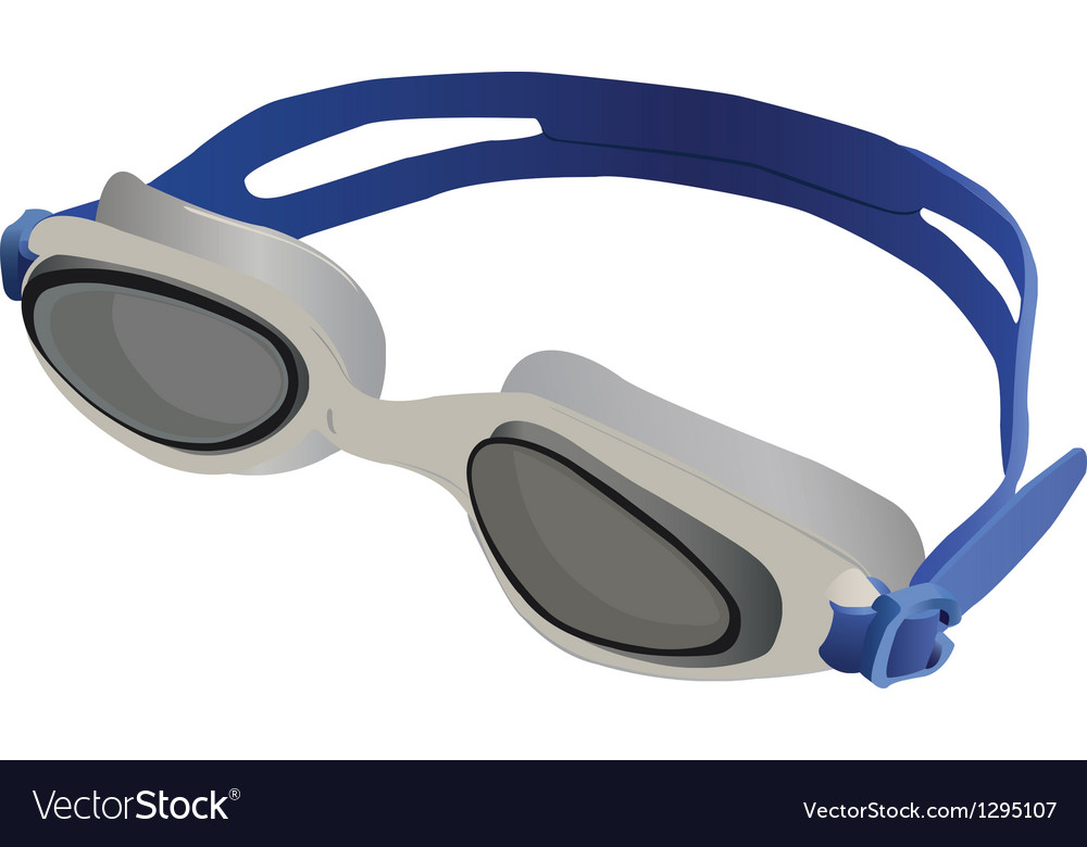 Goggles swimming vector