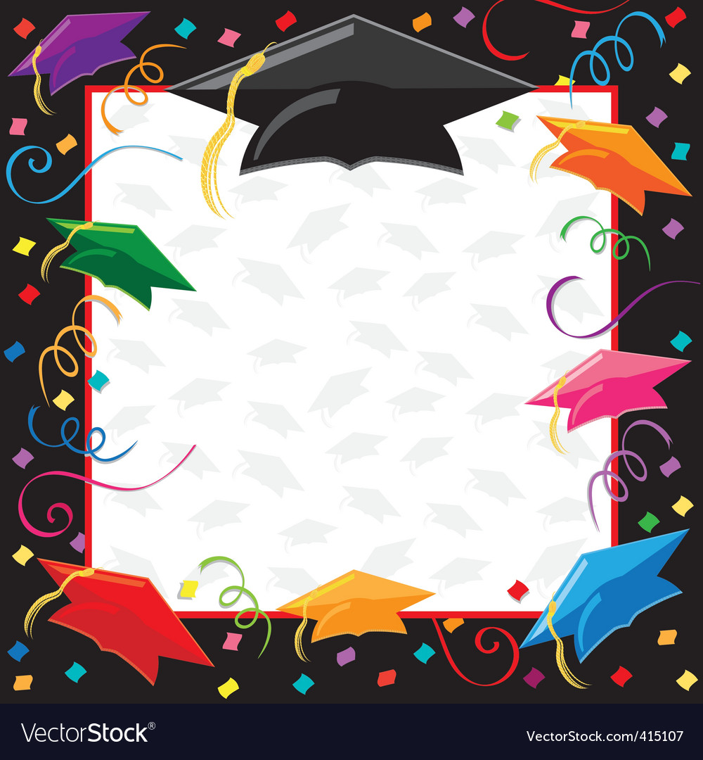 Graduation party invitation vector