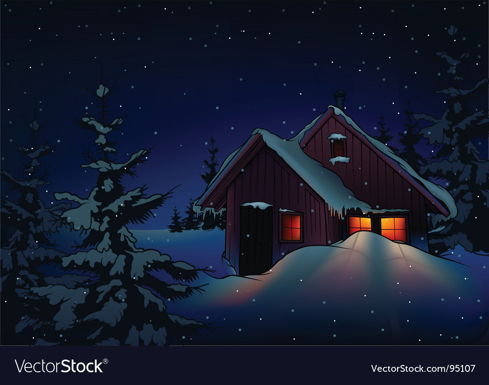 Snowy christmas vector
