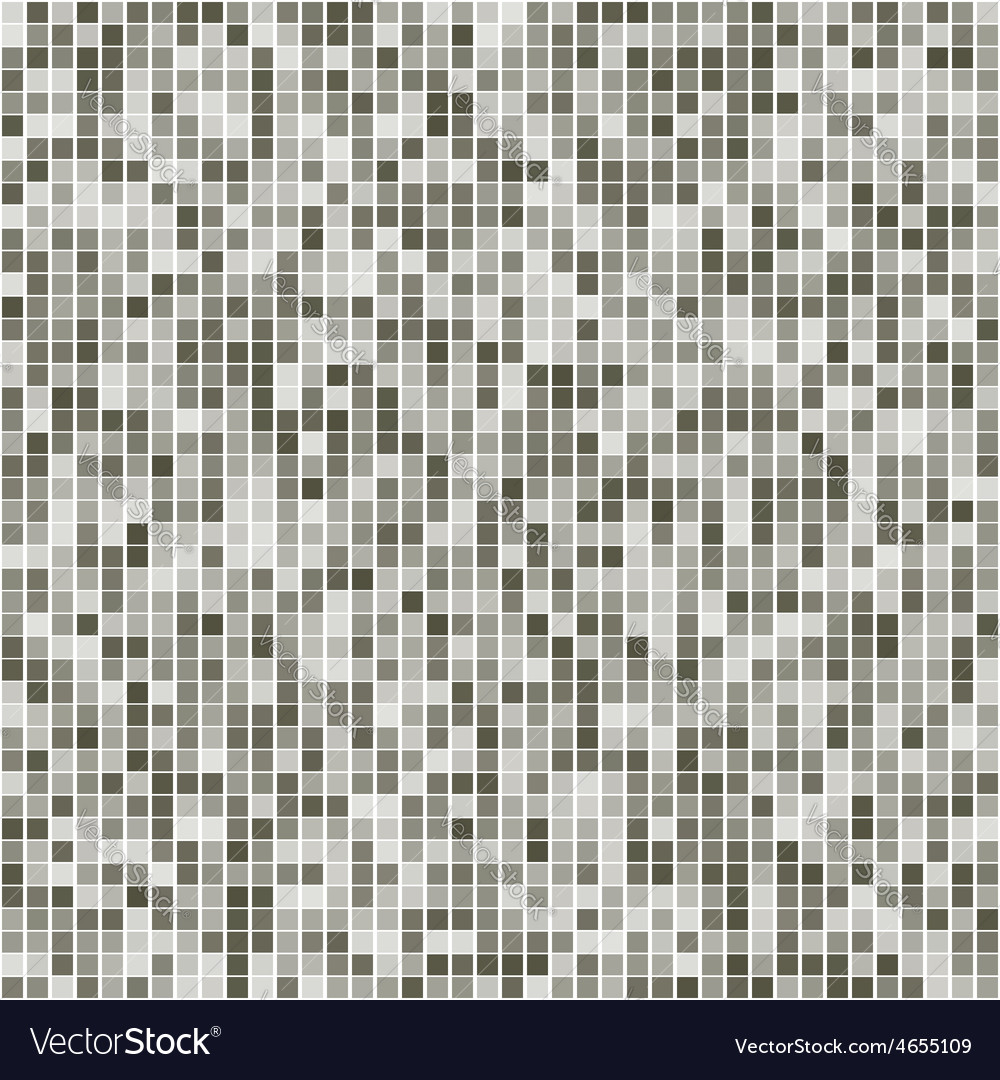 Monochrome square mosaic background vector