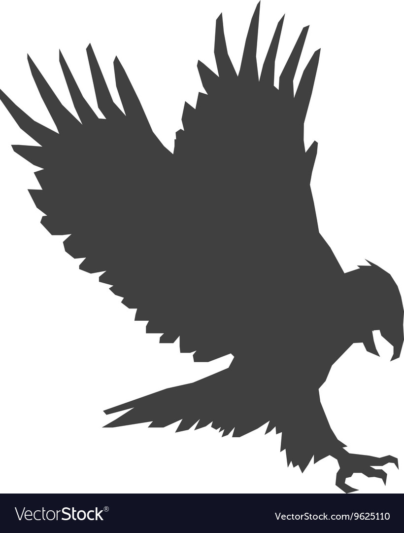 Eagle silhouette icon vector