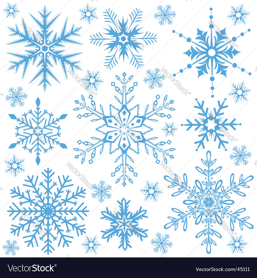 Background snowflakes vector