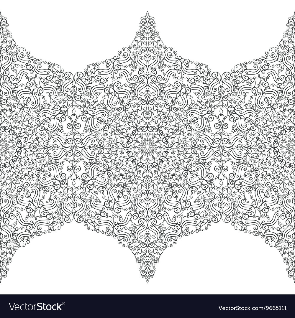 Ethnic seamless pattern borderswirlsrevival vector