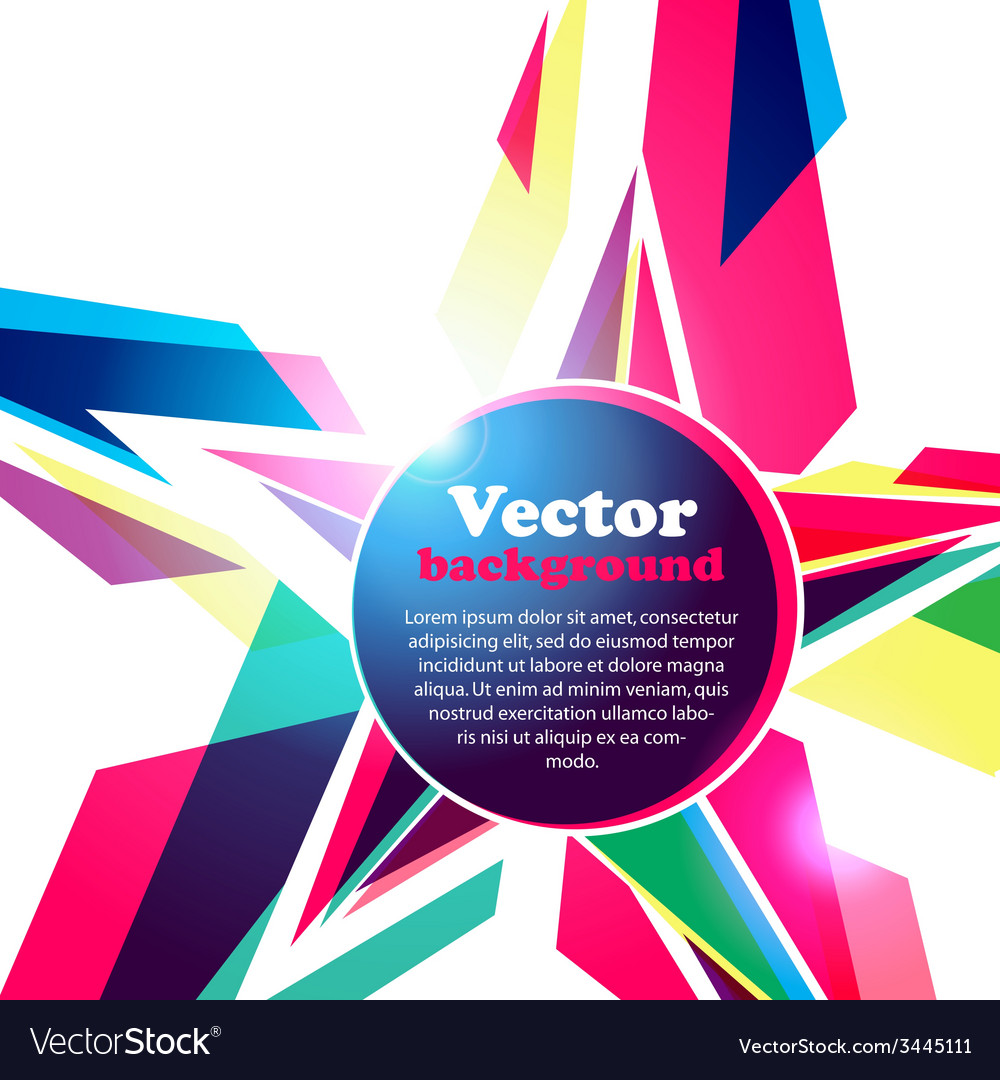 Star frame for your text abstract background vector