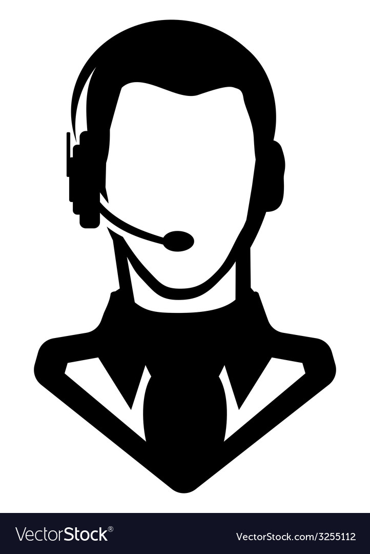 Businessman icon call centar1 vector