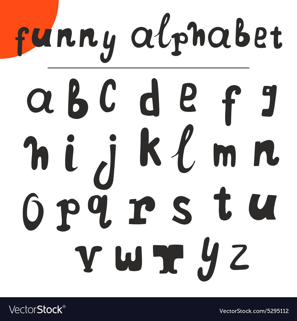 Funny hand drawn alphabet font vector