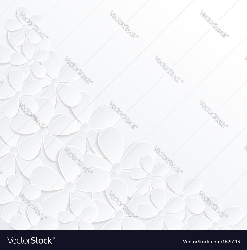 Background with flowers made of paper vector