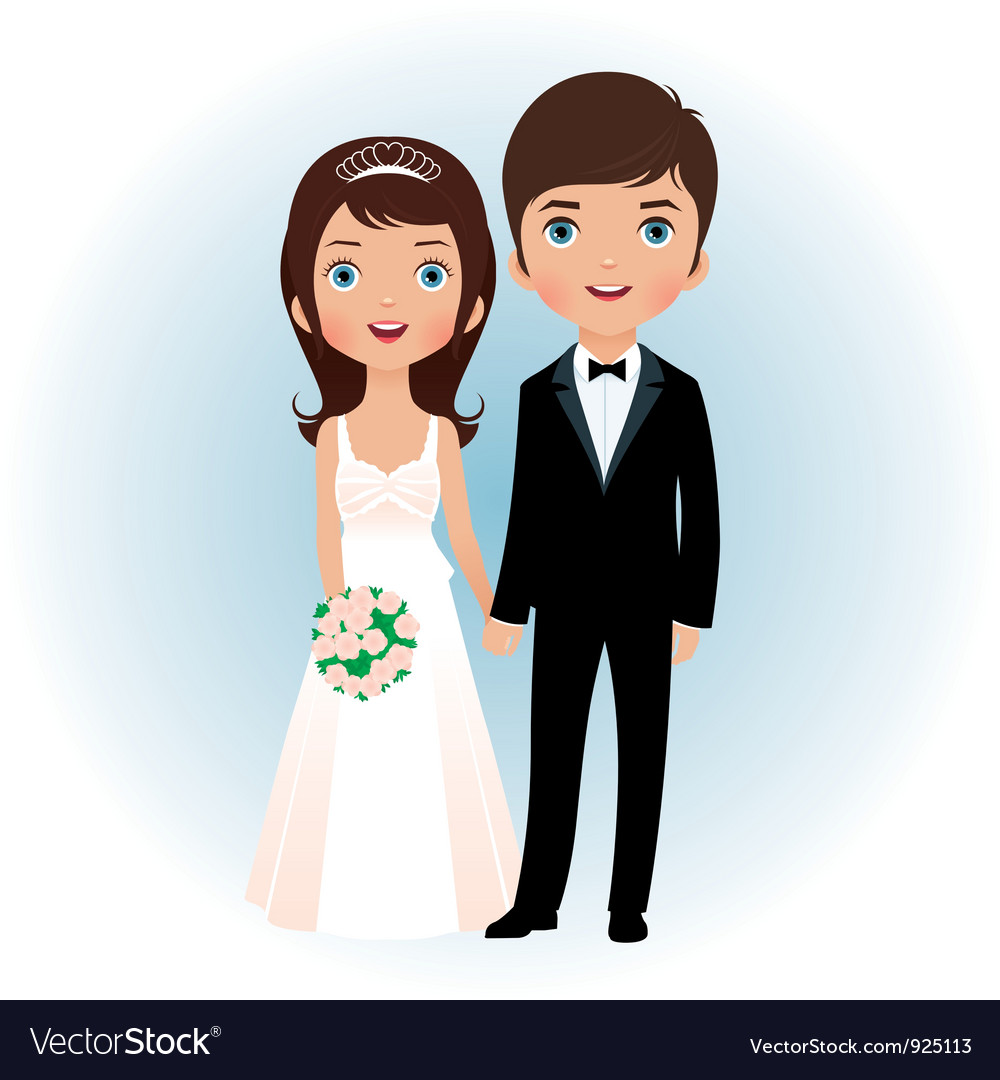 Groom and bride vector