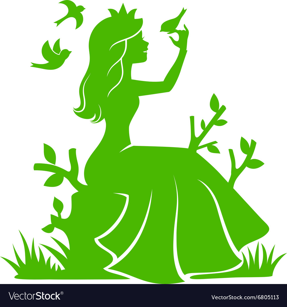 Princess in the forest vector
