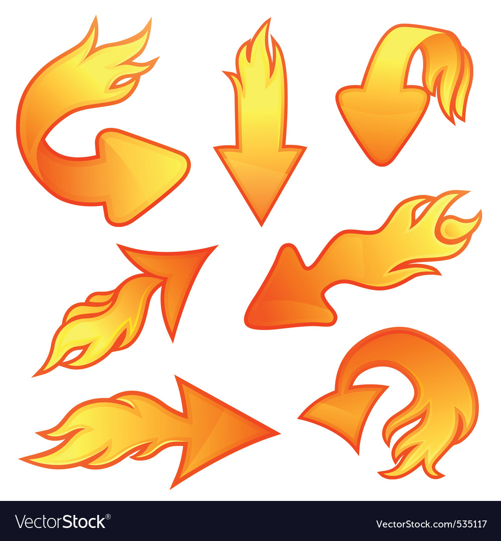 Fire arrows vector