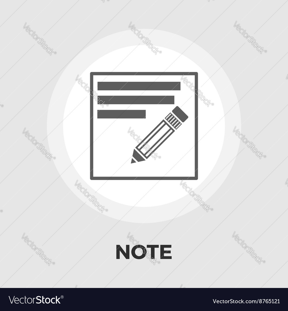 Note icon flat vector