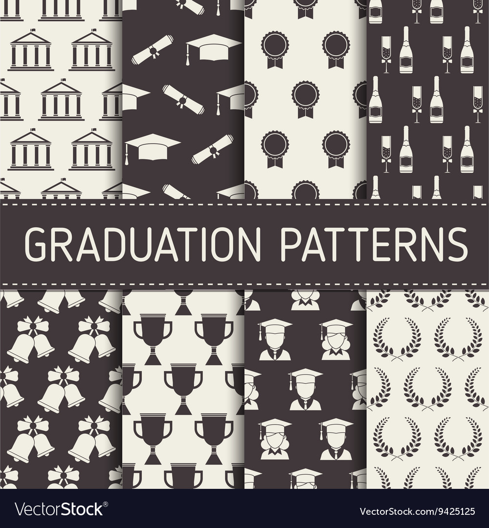 Graduation seamless pattern collection vector