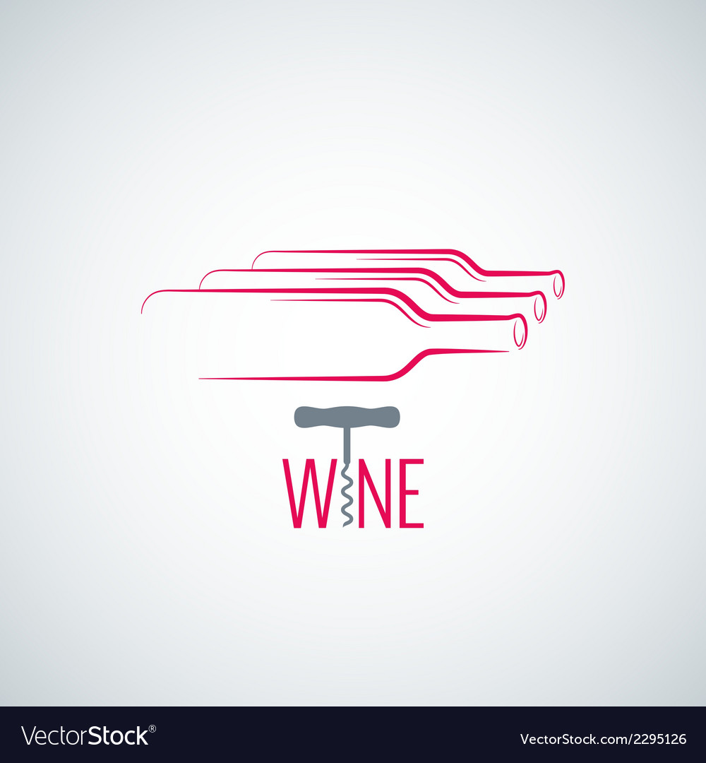 Wine bottle corkscrew background vector