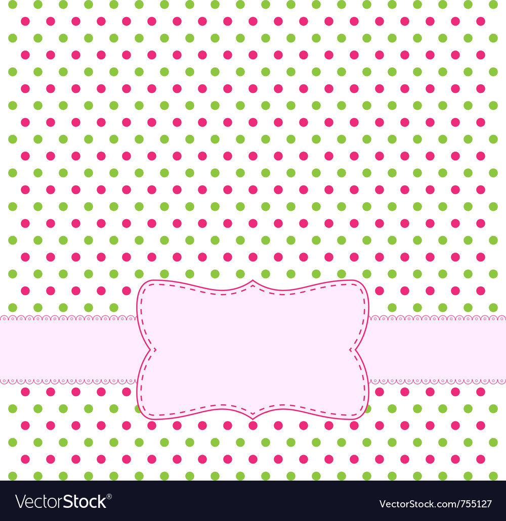 Polka dot design frame vector