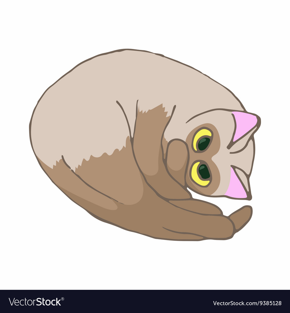 Cat icon cartoon style vector