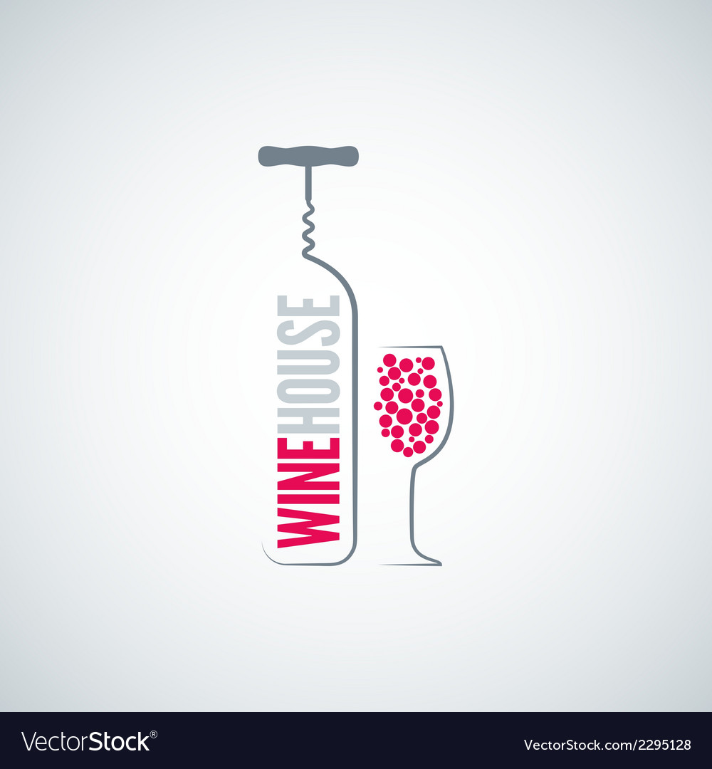Wine bottle glass menu background vector