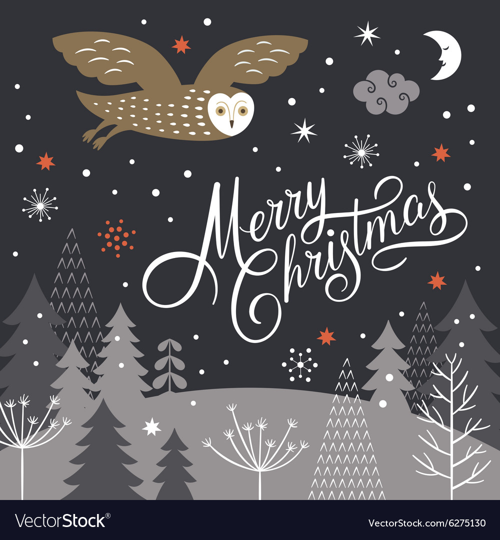 Merry christmas lettering christmas vector