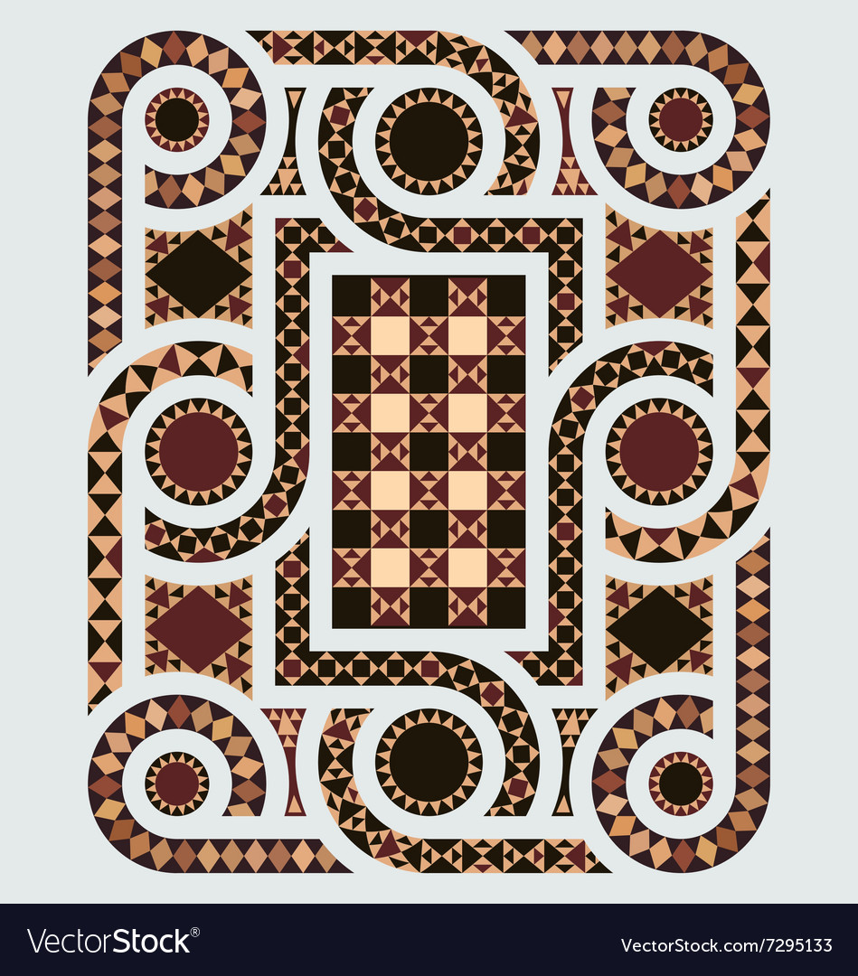 Floor mosaic vector