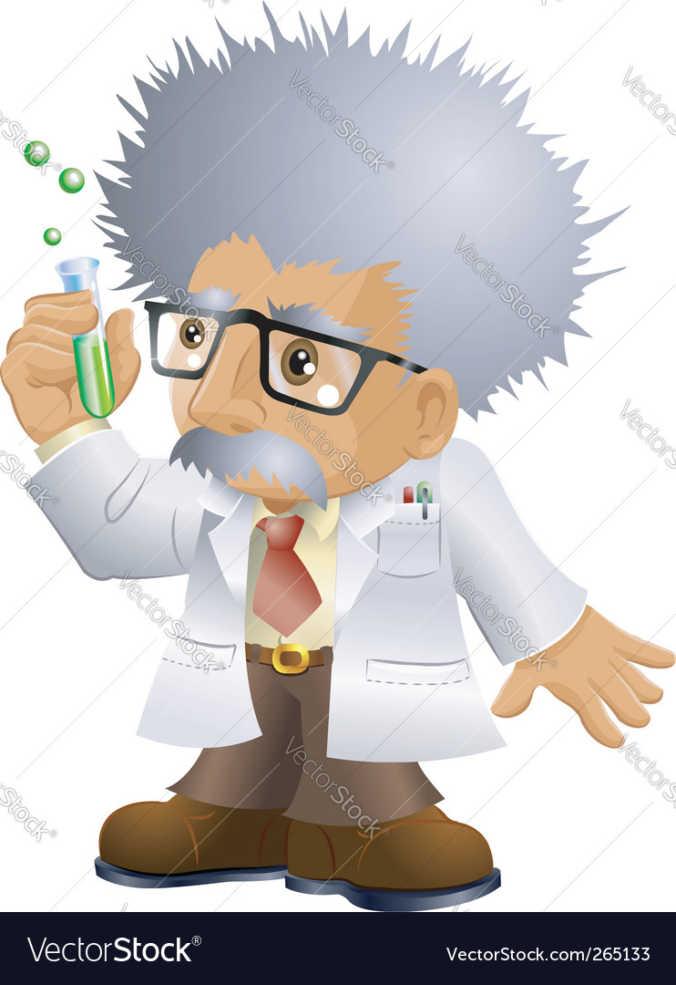 Nutty professor vector