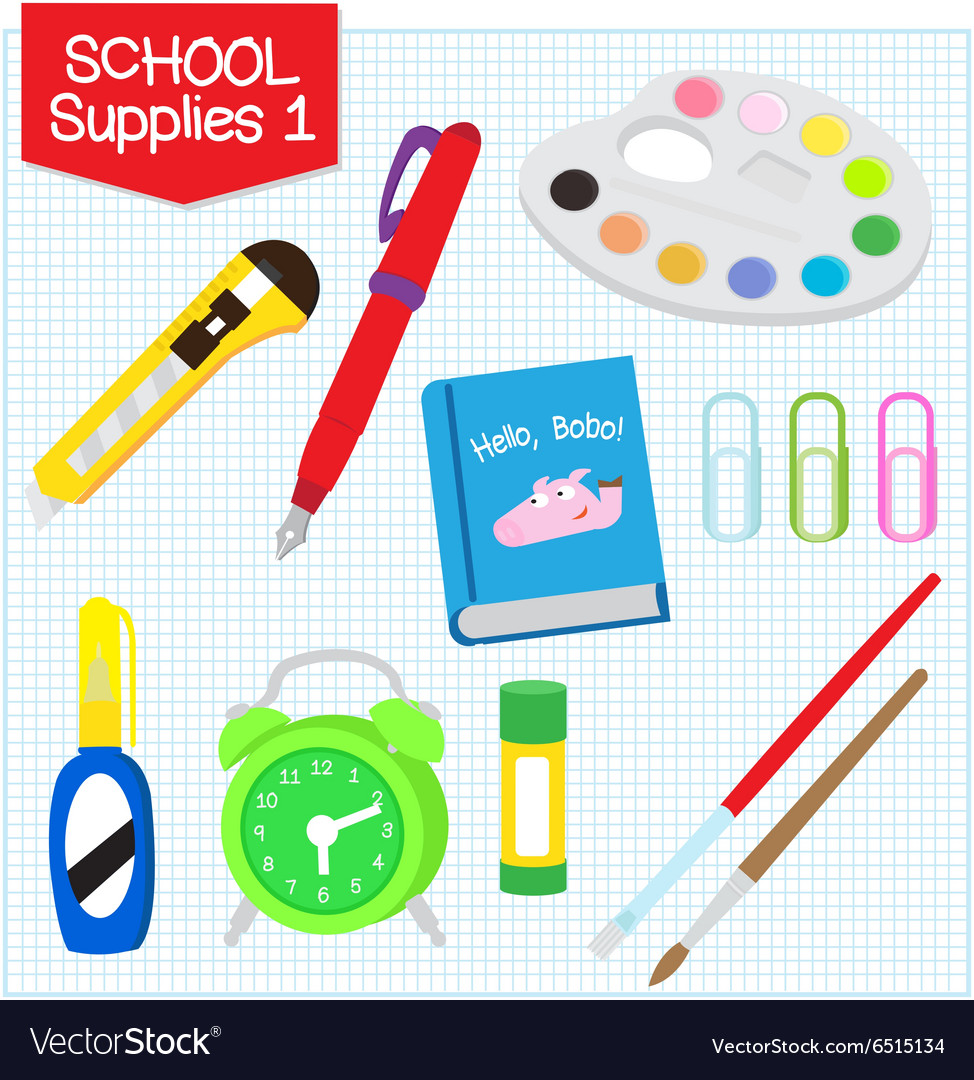 School supplies1 vector