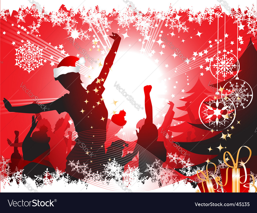 Christmas party vector