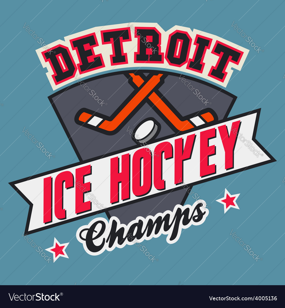 Detroit ice hockey champs vector