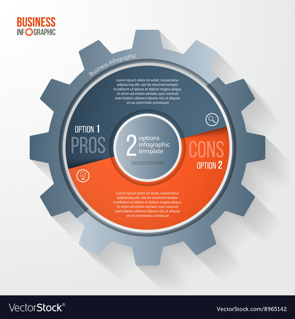Business and industry gear style circle infographi vector
