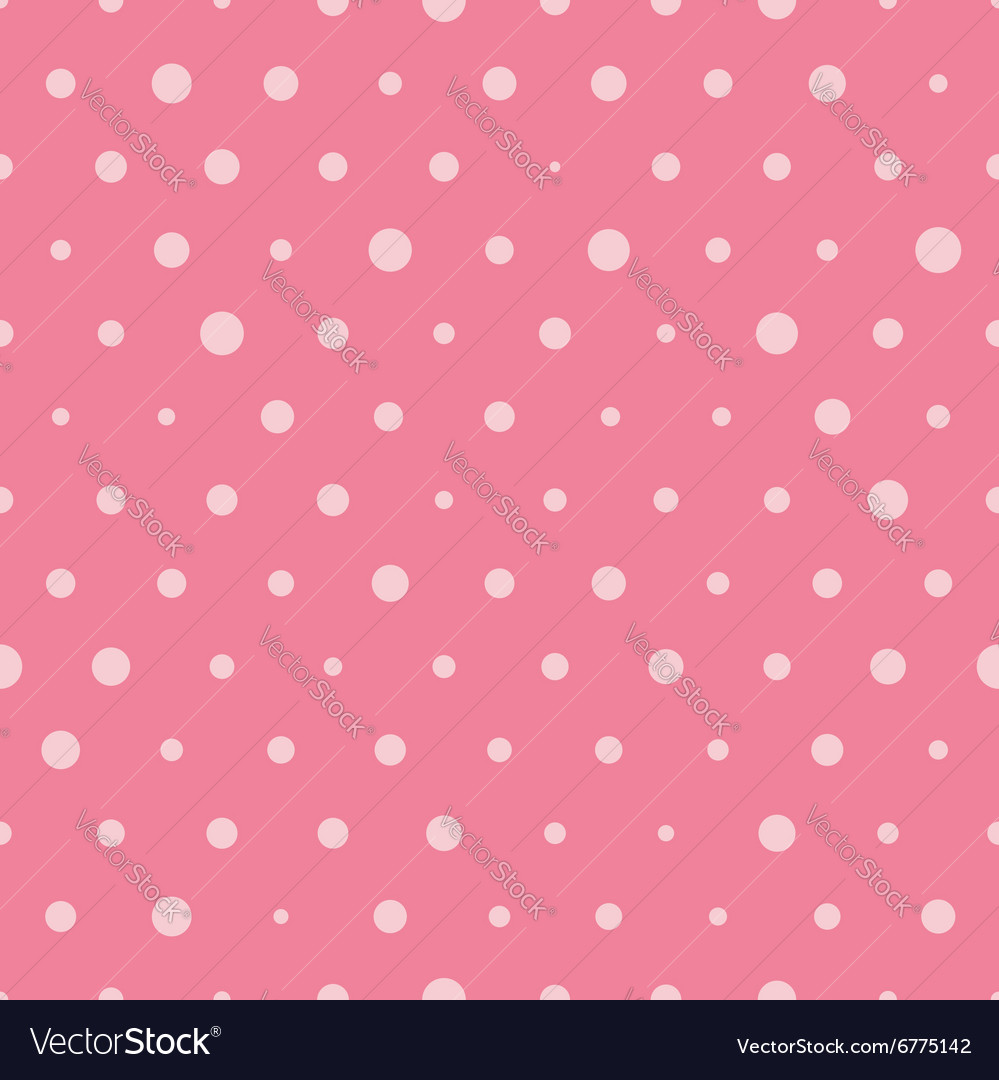Polka dot seamless pattern background vector